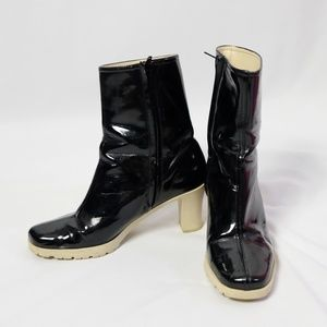 Banana Republic Faux Patent Leather Ankle Boots